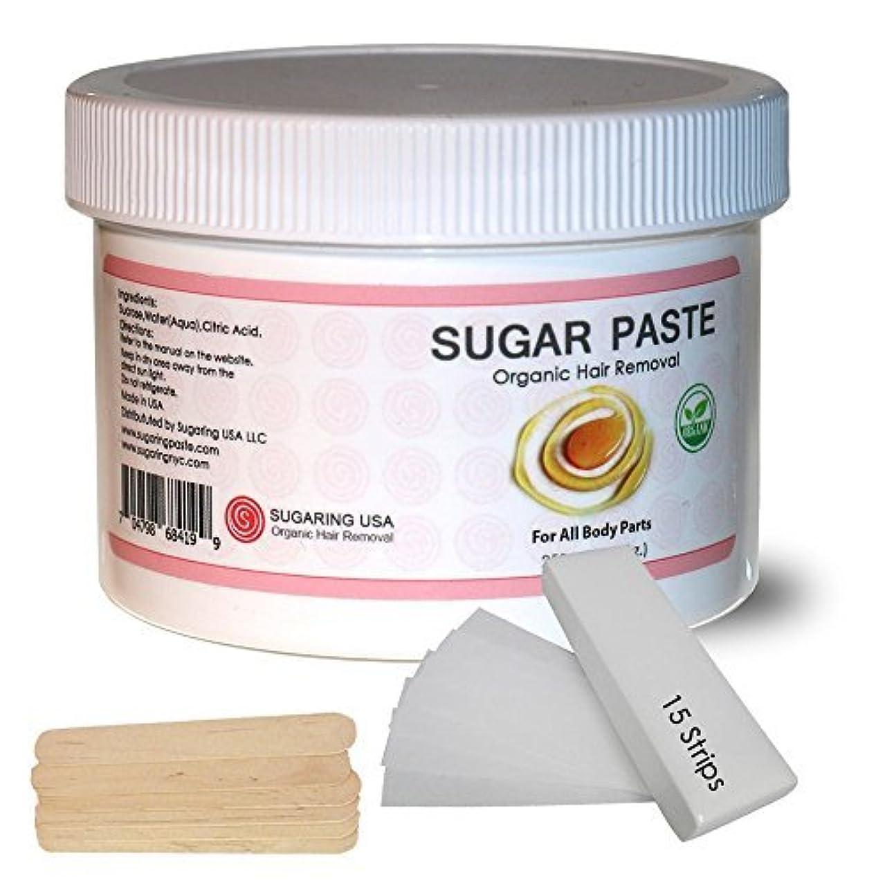 ワイプサスペンション信条Sugaring Hair Removal Paste at Home Kit - (Strips Applicator Sticks) Large350g (12oz.) [並行輸入品]
