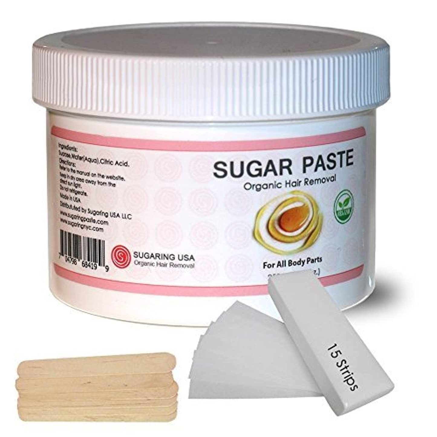 虎矩形彼女はSugaring Hair Removal Paste at Home Kit - (Strips Applicator Sticks) Large350g (12oz.) [並行輸入品]