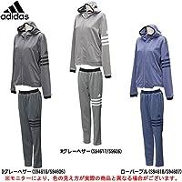 adidas(アディダス) レディース 24/7 杢フード付ジャージパーカー 下セット 【レディース】 (BPZ39/BPZ35) (L, ローパープル(S94618/S94607))