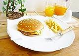 欧風 リム付き ディナープレート 27cm Lサイズ【白い食器 レリーフ アウトレット 訳あり 大皿】
