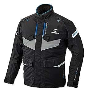 RSタイチ(アールエスタイチ)バイクジャケット ブラック/ブルー (サイズ:L) DRYMASTER FRONTIER(フロンティア)オールシーズンジャケット RSJ709