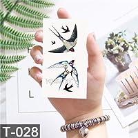 幾何学クールテンポラリータトゥーステッカー女性ミニマリストラインパターンボディアート新しいデザインフェイク男性タトゥー[10]