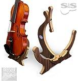 バイオリンスタンド 高級木製 東欧SAS社製 折りたたみ式 ダークブラウン