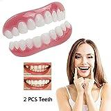 化粧品の歯のホワイトニングパーフェクトフィットスナップオンスマイルトップとボトムの偽歯インスタントプロテーゼスマイルコンフォートフィットフレックスオーラルケア