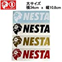 【NESTA BRAND】ネスタブランド New横ステッカー大サイズ/34cm×10.8cm/ホワイト ブラック ゴールド レッド RED