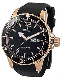 [エドックス]EDOX メンズ クロノラリーS クロノグラフ ローズゴールド ブラック ラバー 84300-37RCA-NBR 腕時計 [並行輸入品]