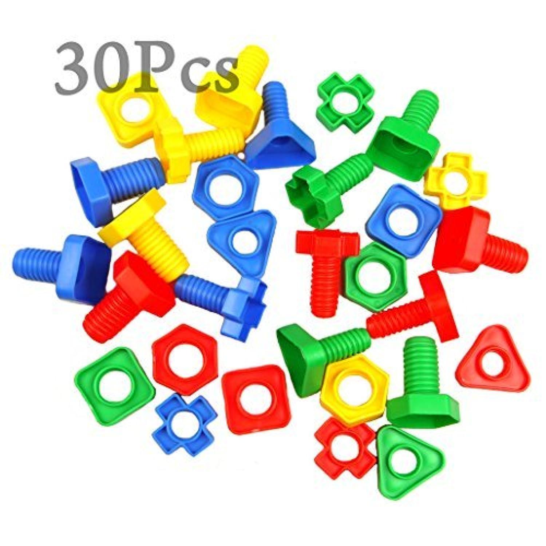 Pomcatファインモーター玩具CJ533マッチングの30PCジャンボナッツやボルトセット