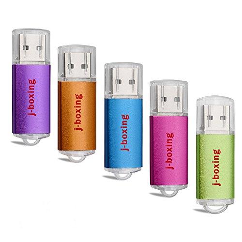 J-boxing USBメモリ 4GB フラッシュドライブ USB 2.0スティック カラー 5個セット