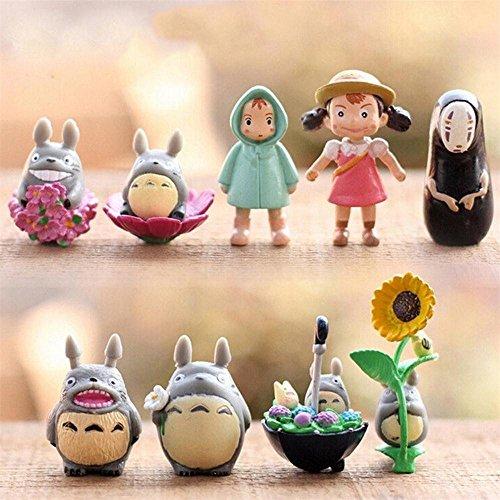 となりのトトロ フィギュア ジブリ おもちゃ 9pcs / set studio Ghibli Neighbor Totoro Spirited Away no face Mini figures [並行輸入品]