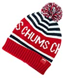 (チャムス) CHUMS 子供用 ニット帽 Kid's CHUMS Logo Border Watch キッズ ワッチ ビーニー レッド Red