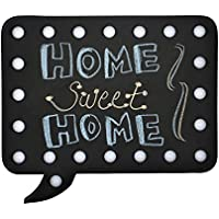 LED Chalkboard/Messageboard for Personal or Business Signnage - Square Black Metal
