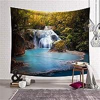 XJZxX-壁飾り 背景ターポリン風景北欧ローレル風景キャンバス素朴な壁毛布テーブルクロス森林タペストリー (Color : B, Size : 200*150cm)