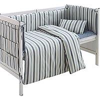 Rart 機械洗えるベビー寝具セット,バンパーのすべてのラウンド ユニセックス 無衝突赤ちゃんベビーベッド バンパー 綿パッド入りのベッド バンパー-A 95x55cm(37x22inch)