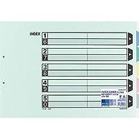 コクヨ ファイル インデックス 仕切カード 5山 2穴 10組 A3 シキ-95