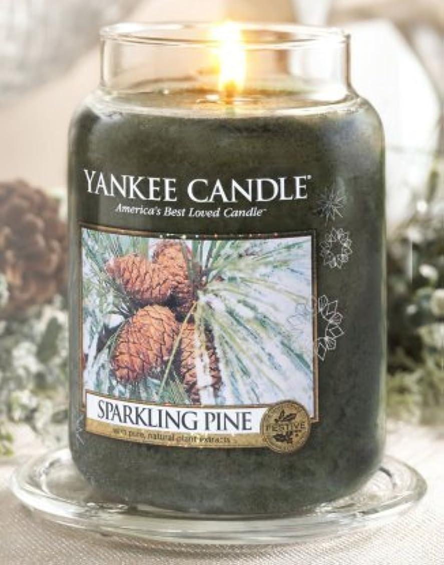 舌シルク負荷Yankee Candle Sparkling Pine Large Jar Candle