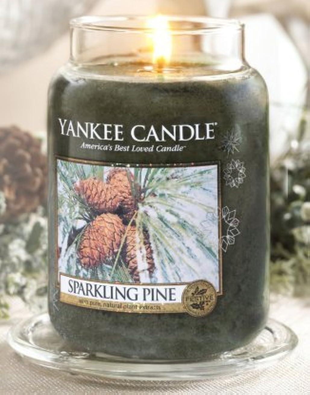 研磨剤デジタルモールス信号Yankee Candle Sparkling Pine Large Jar Candle