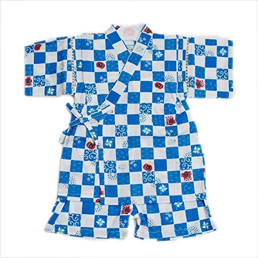 トレーダーナチュラ実際に日本製生地使用の甚平スーツ 祭り 男の子 90-95cm(9670-1700)