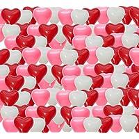 アハランナイン(Aharan9) ハート バルーン 風船 誕生日 結婚式 飾り付け ウェディング 撮影 小物 3色+ポンプ1本セット 全100枚