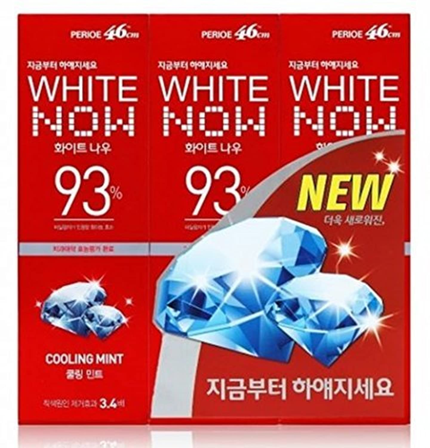Lg Perioe 46cm Toothpaste Oral Care White Now 93% Cooling Mint 100g X 3 by perioe