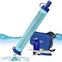 浄水バッグ 浄水ストローボトル ウォーターバッグ 直飲み携帯浄水器 5セット 四重濾過 災害用 戸外 キャンプ 旅行