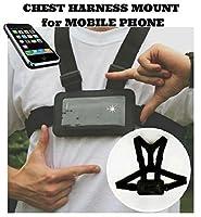 携帯電話カメラアクションカメラボディとして使用チェストハーネスストラップ携帯電話ホルダーused forアクションスポーツ