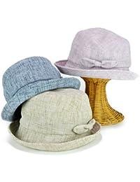 ノーブランド品 国産シャリットリボン付セーラー レディース帽子