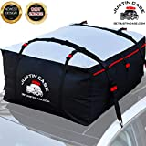 Justin Case Rooftop Cargo Carrier Bag – 19 Cubic Feet – Heavy Duty, Waterproof Car Top Carrier for Extra Car Roof Storage – Roof Bag Straps & Hooks Included, Works Without Luggage Rack or Side Rails