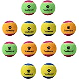 SCENEREAL Small Tennis Balls for Dogs - 12Pcs/Set Squeaky Toys for Pets Playing and Training 1.6""