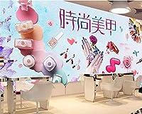 Mbwlkj カスタム超スリップパーソナライズ壁紙ファッション手描きのネイルショップメイクショップの背景の壁紙家の装飾-400cmx280cm