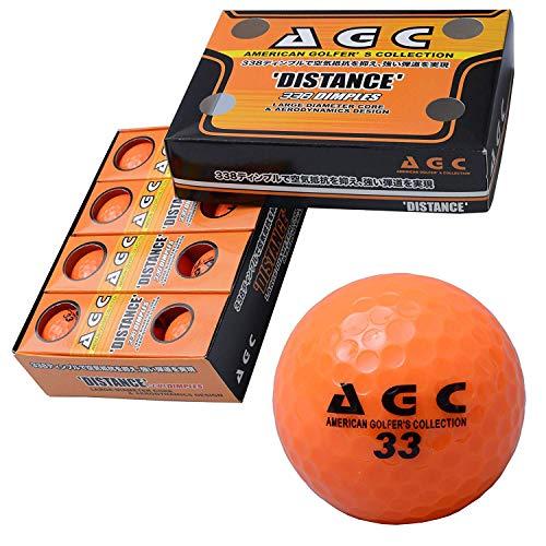 LEZYNE(レザイン) AGC 高弾性高反発2ピースゴルフボール 高輝度ネオンボール1ダース(12個入り) ネオンオレンジ AGBA-4714 OR
