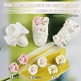 3Dフラワー ネイルアートに最適 小さい陶器の花 3色×10個 miyahimeオリジナルセット【並行輸入品】
