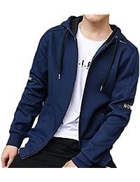 chenshiba-JP メンズスリムフィット灰色烏スウェットロングスリーブのコート?ジャケット