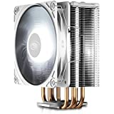 DEEP COOL GAMMAXX GTE V2 White, CPU Air Cooler with 4 Heatpipes, White Top Cover with Logo, Black Fins and Fan, 120mm PWM Fan