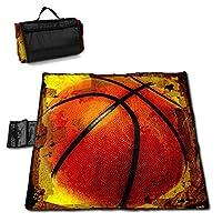 QQ LOVE バスケットボール フレア レジャーシート ピクニックシート 厚手 レジャーマット 折り畳み 150*145 Cm
