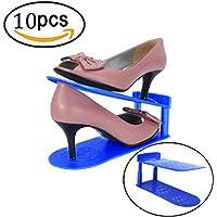 AloneA表示ラック靴オーガナイザー省スペースラックストレージ耐久性10個パック