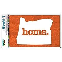 オレゴン州OR ホーム州 MAG-NEATO'S(TM) ビニールマグネット - テクスチャオレンジ