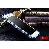 iPhone6s plus アルミバンパー ケース シンプルでオシャレ アイフォン6sプラス メタル バンパーフレーム6SP-270-L60610 (ブルー)