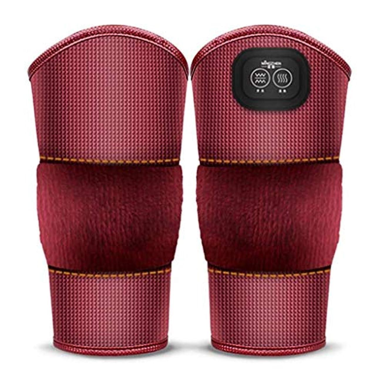 フォーマットゲージ警告マッサージ加熱膝ブレースラップ、プロフェッショナルな膝サポートパッド、膝捻挫の痛み、関節炎の痛み、古い冷たい脚の関節痛