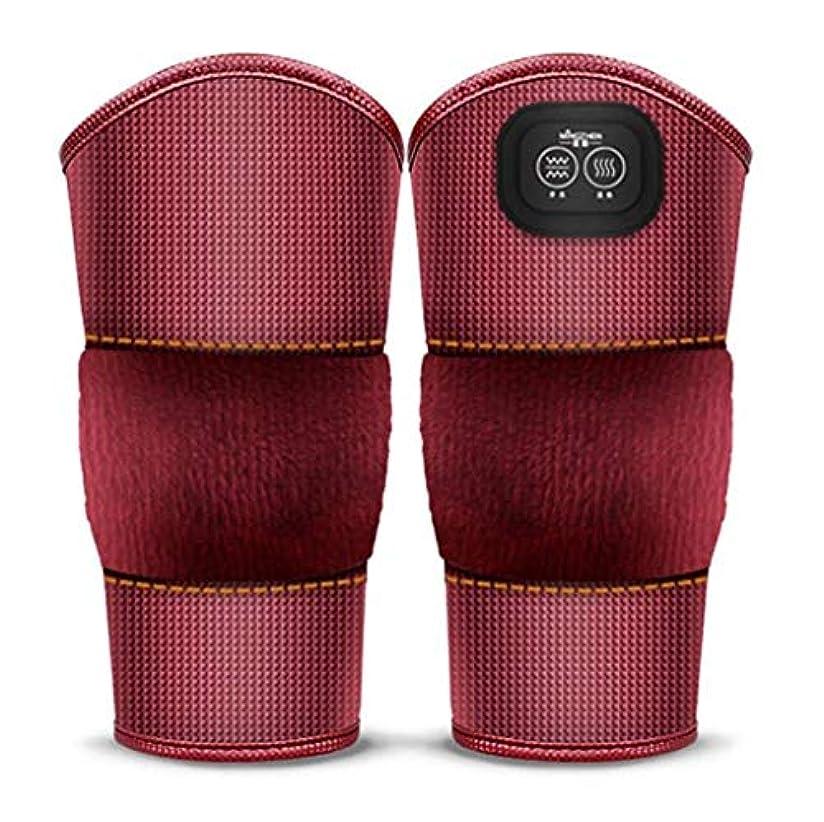 バルブ不快船形マッサージ加熱膝ブレースラップ、プロフェッショナルな膝サポートパッド、膝捻挫の痛み、関節炎の痛み、古い冷たい脚の関節痛