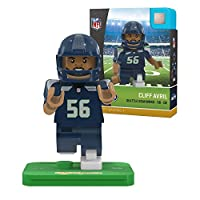 NFLシアトルシーホークスgen4Limited Edition Cliff Avril Mini Figure、スモール、ホワイト