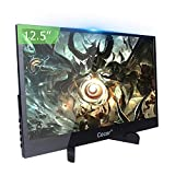 Portable Monitor 12.5 inch IPS Full HD 1920x1080P 5mm Ultra-Thin Display for PC Laptop Gaming PS4 XBox DVD Player Dual HDMI with mini Stand USB TYPE-C Powered LED Backlight Built-in Speaker Audio Out