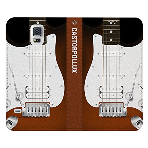 Galaxy S4 / ギャラクシー S4 (SC-04E) 対応 ケース Parody Book Flip Wallet パロディー ブック フリップ ウォーレット ケース スマホ カバー Guitar / ギター
