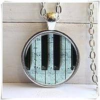 ピアノキーネックレス、音楽Loversネックレス