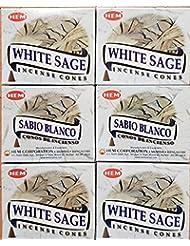 お香 ホワイトセージ コーンタイプ 6箱