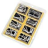 senyon 知恵の輪中國環拼图玩具8件套装 , 黄色