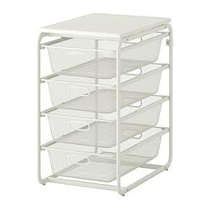 ALGOT フレーム/メッシュバスケット4個/トップシェルフ(IKEA) 499.057.23