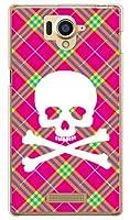 [AQUOS Xx 304SH/SoftBank専用] SECOND SKIN スマートフォンケース スカルパンク ピンク (クリア) SSH304-PCCL-201-Y218