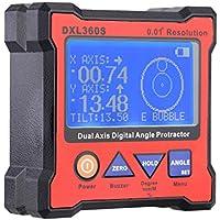 KKmoon DXL360S 2軸 デジタル角度計 デジタルレベル 5側マグネットベースデジタル角度分度器 高精度 レベルゲージ 100-240V 50-60Hz 液晶表示部付き