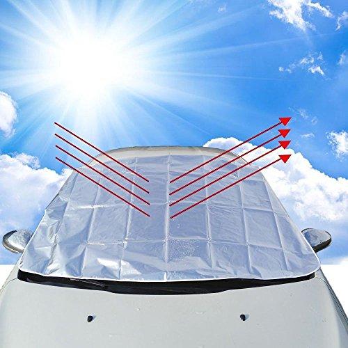 JTENG サンシェード 車 車サンシェード 車 日除け 車種汎用 全窓カバー 簡単取付 折りたたみ式 夏冬兼用 凍結防止 積雪対策 四シーズン使用可能 150*118cm