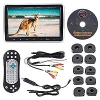 Acouto 車載DVDプレーヤー 10.1インチ外付け車載DVDプレーヤーディスプレイ カラーLCDデジタルスクリーンタッチボタン リモコン付き